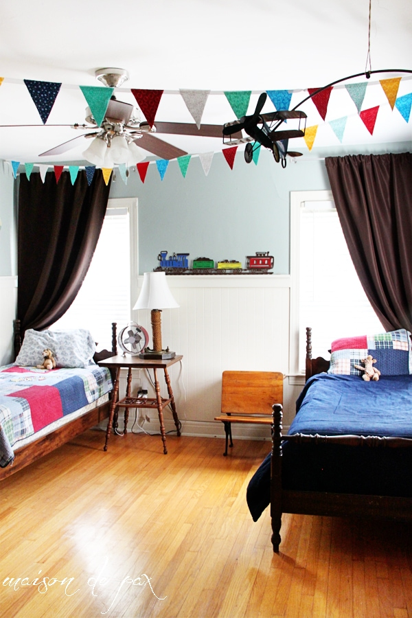 gorgeous boys' room makeover at maisondepax.com
