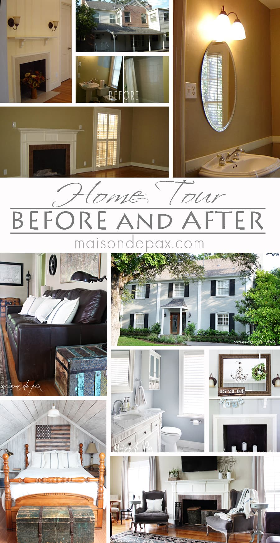 Before and After House Tour