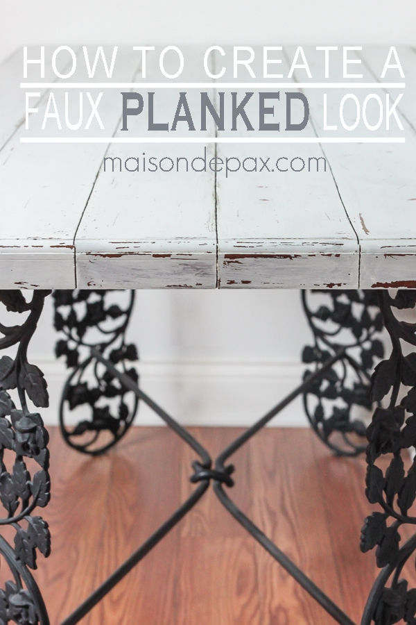 Make a gorgeous, painted, planked look desktop from plywood! via maisondepax.com #diy #plank