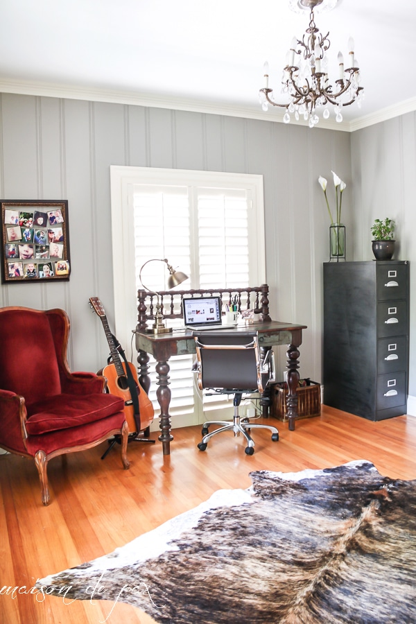 Panelled Room: Eclectic Office Makeover