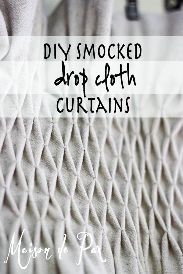 Beautiful and cost effective! DIY drop cloth curtains tutorial via maisondepax.com