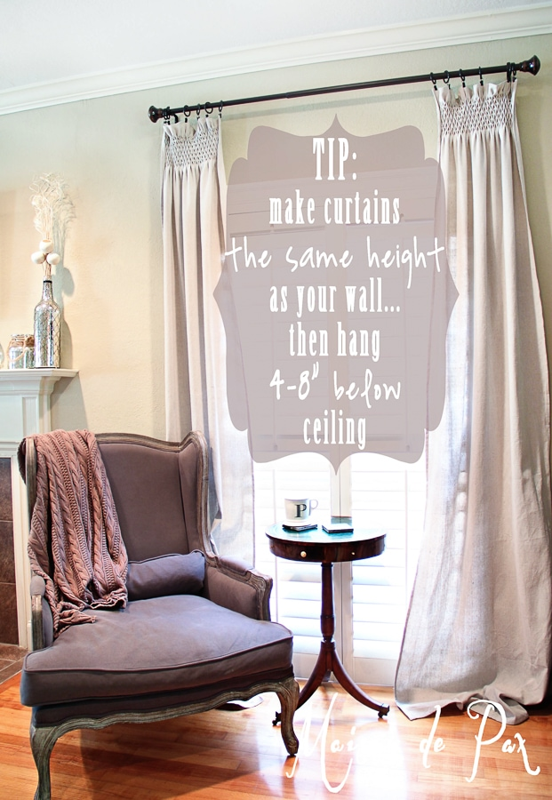 Drop Cloth Smocked Curtains Cedar Hill Farmhouse