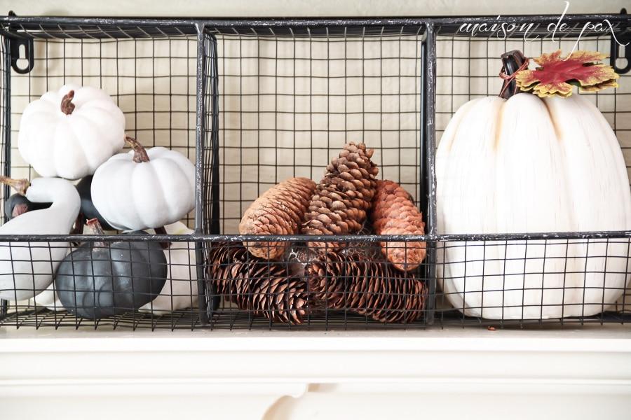 Fall Decor Ideas (mantel basket)