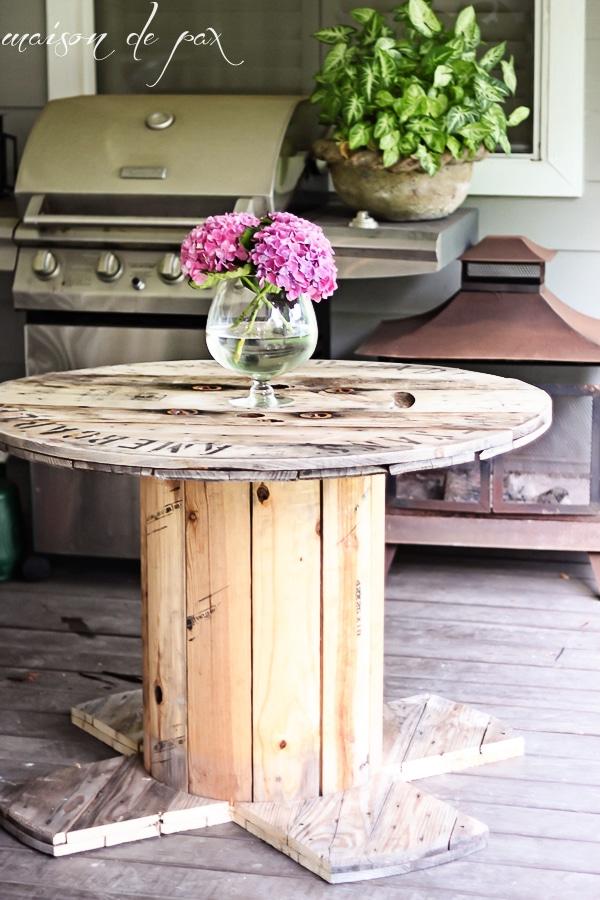Diy Industrial Spool Table Maison De Pax