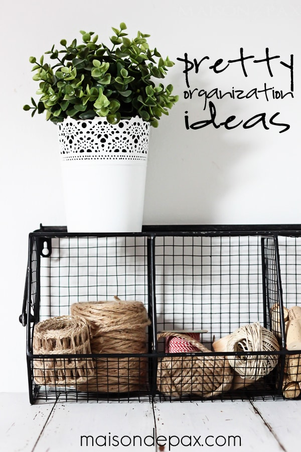 Who couldn't use more ways to organize?  Creative and pretty organization ideas for office or craft room #organize #desk #craft #office