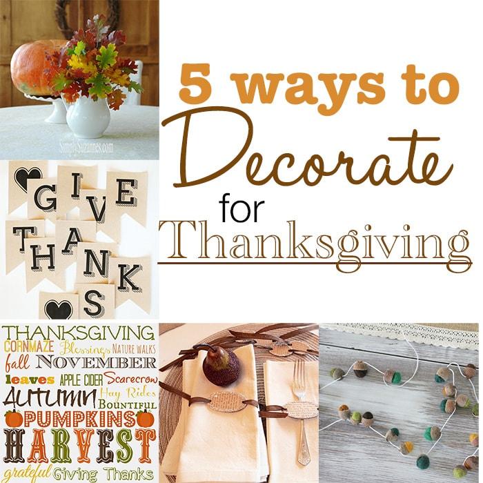 Fabulous and easy Thanksgiving decorating ideas via maisondepax.com #fall #decor #diy