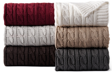 Cable Knit Throws