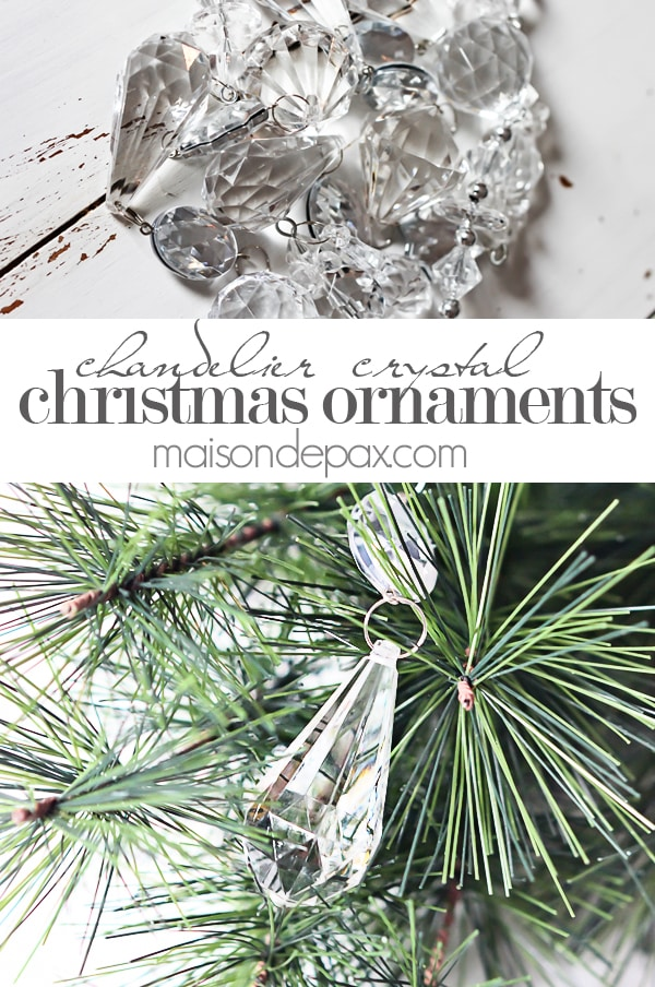 add chandelier crystals to your christmas tree via maisondepaxcom - Crystal Christmas Decorations