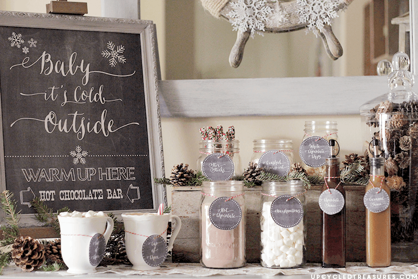 Hot Chocolate Bar and Printable Labels