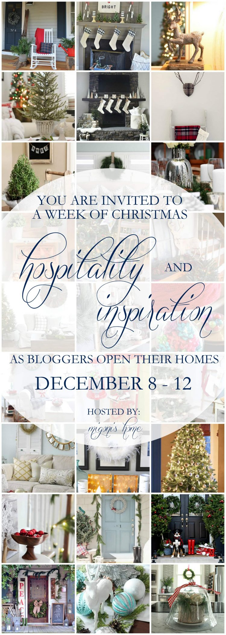 Incredible collection of stunning Christmas home tours and holiday decorating inspiration! via maisondepax.com