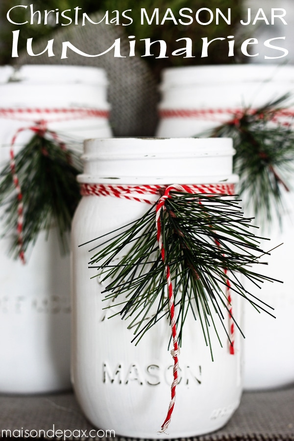 mason jar luminaries adorable and easy christmas decor via maisondepaxcom diy - Christmas Jar Decorations