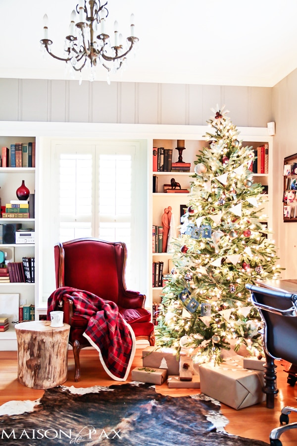 gorgeous christmas home tour full of simple beautiful diy and french inspired decoration - Library Christmas Decorations