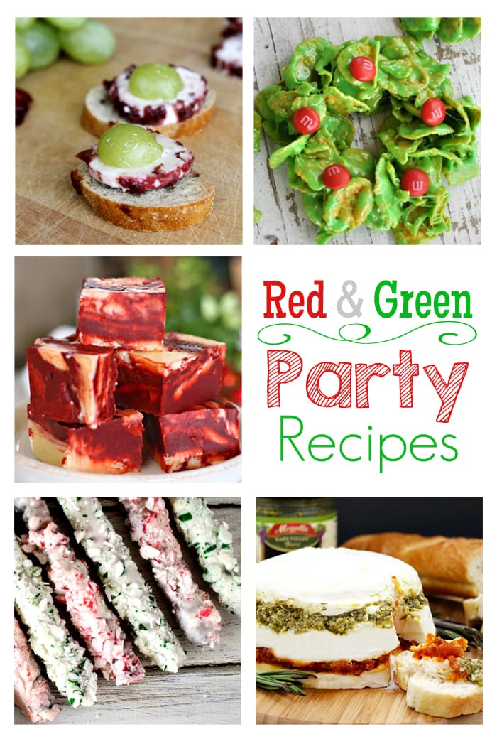 Perfect holiday party recipes!  Red and green appetizers and sweets  via maisondepax.com