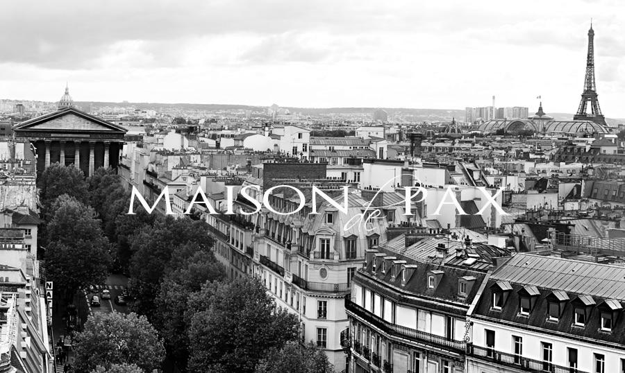 stunning black and white photography of Paris via maisondepax.com
