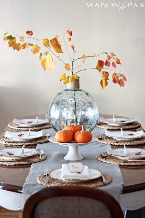Beautiful whitewashed gray dining set! Easy chalk paint makeover via maisondepax.com
