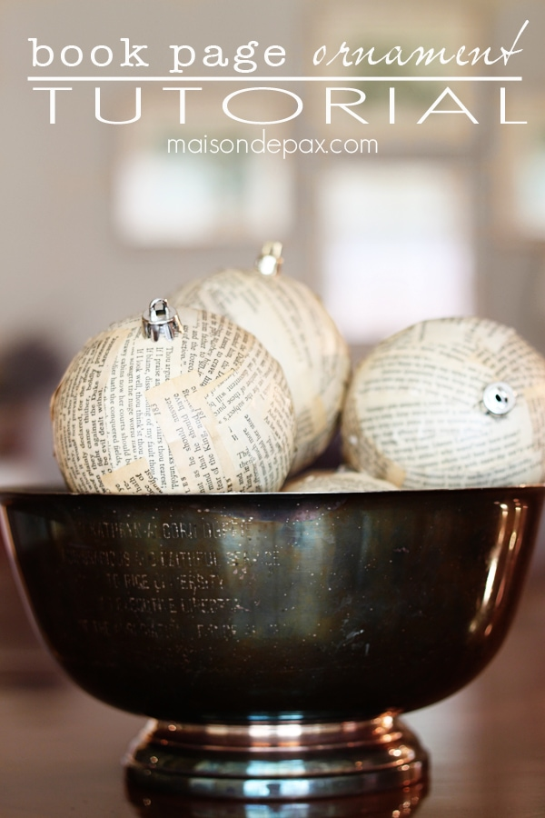 how to make book page ornaments via maisondepax.com #diy #christmas