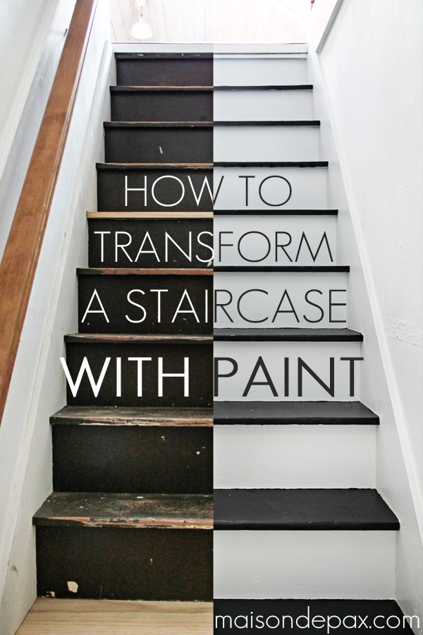How To Paint Stairs The Easy Way, Easiest Way To Paint Basement Stairwell