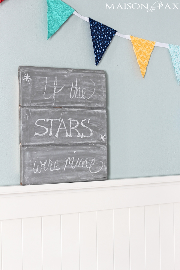 Gray chalkboard - so cute! maisondepax.com #diy #tutorial