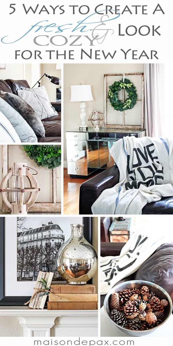 Tips for decorating your home after the holidays: warm, cozy, winter decor.