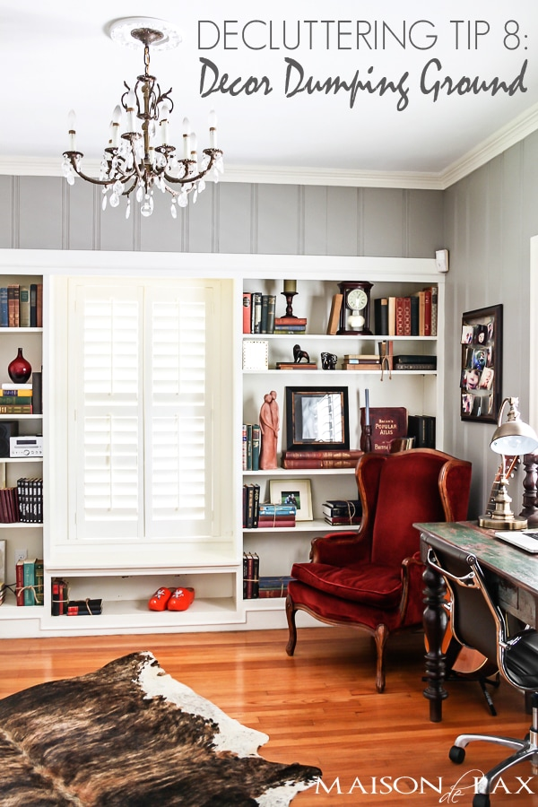 Great functional suggestions for organized bookcases and storage | maisondepax.com #organization #declutter