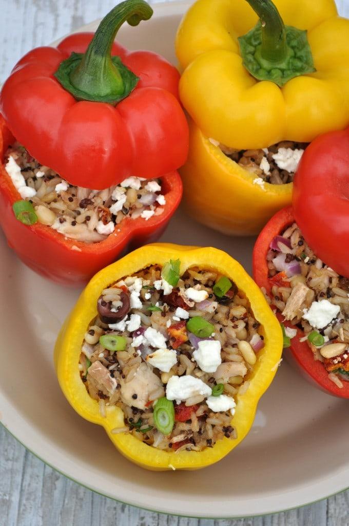 http://www.theseasonedmom.com/sicilian-quinoa-tuna-stuffed-peppers/