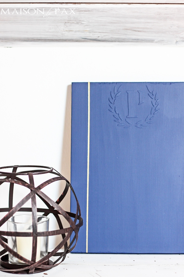 So cool! Easy tutorial to create a raised emblem on any piece of furniture or decor | maisondepax.com