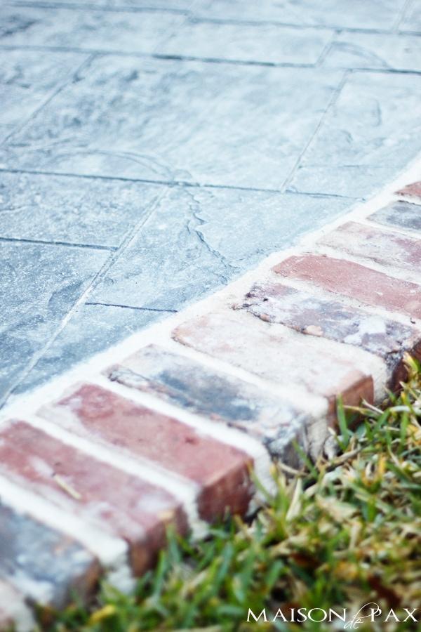 gorgeous stamped concrete and antique brick patio | maisondepax.com