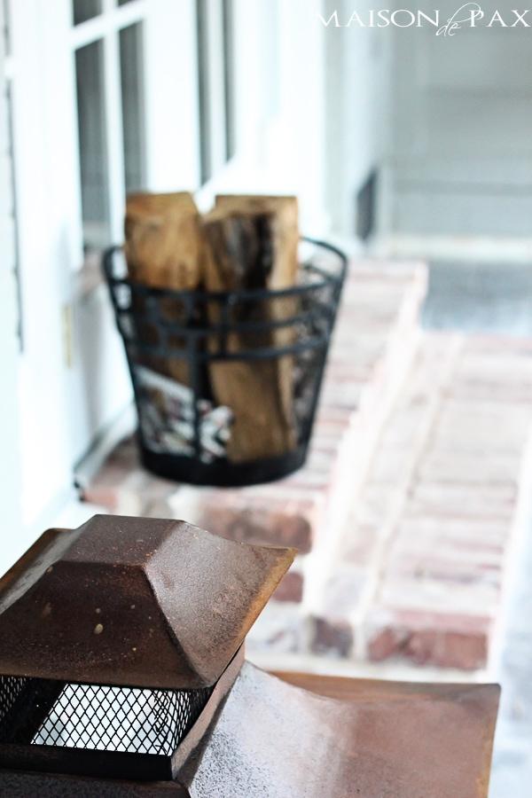 stamped concrete and antiqued brick patio | maisondepax.com