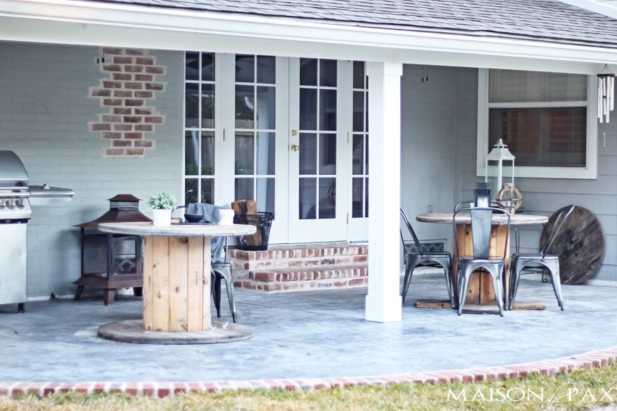gorgeous stamped concrete and antique brick patio | maisondepax.com