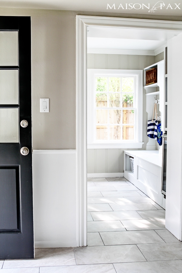 Bright White Laundry And Mud Room Maison De Pax