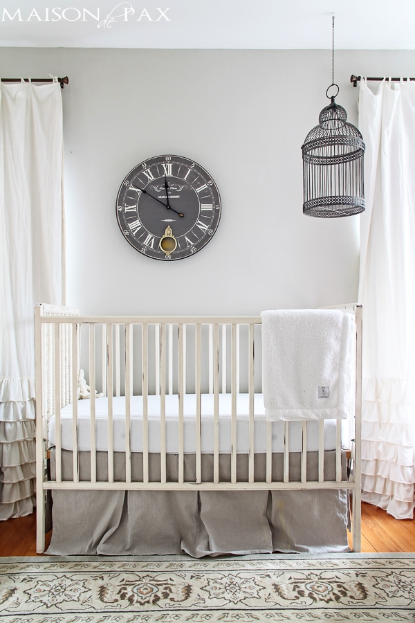 nursery with birdcage above crib | maisondepax.com