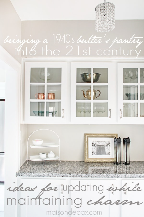 Gorgeous butlers pantry and kitchen makeover with affordable sources | maisondepax.com