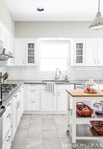 gorgeous classic white kitchen renovation | maisondepax.com