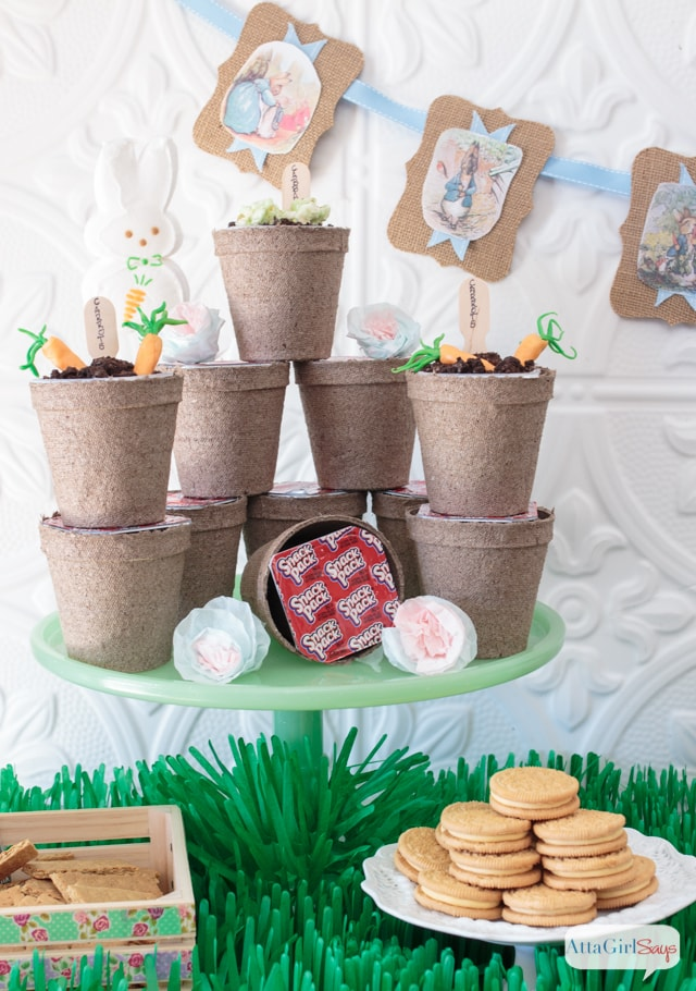 creative ideas and treats for a Peter Rabbit themed Easter party!