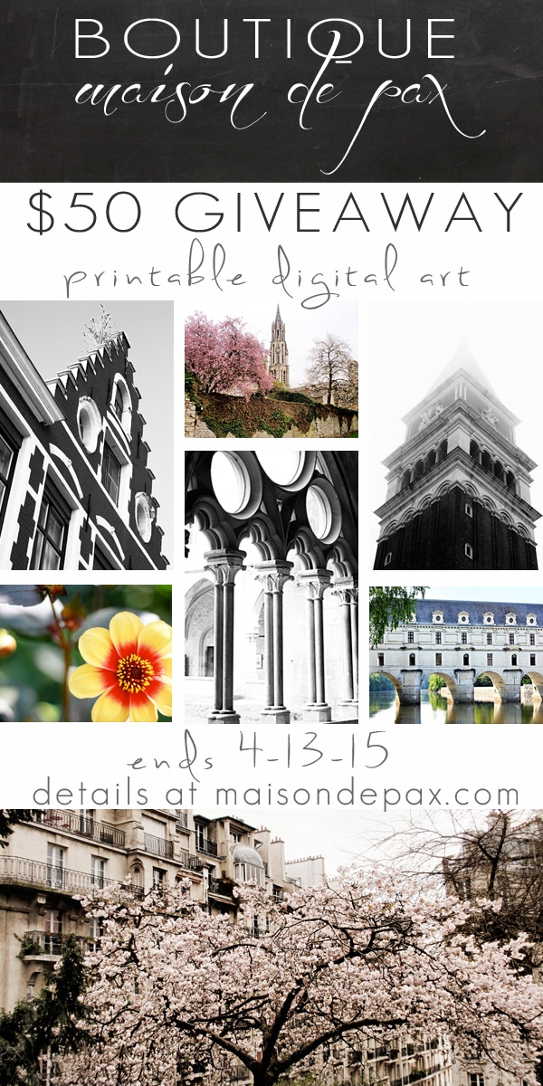 gorgeous printable digital art and photography | enter to win at maisondepax.com