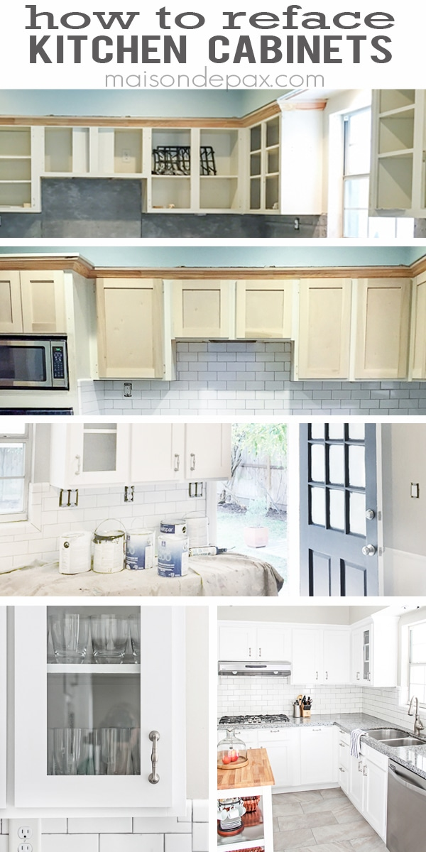 refacing kitchen cabinets maison de pax