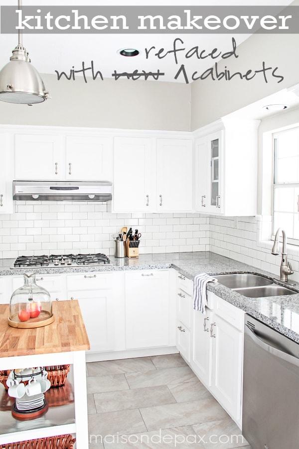 Awesome budget idea - how to reface cabinets | maisondepax.com