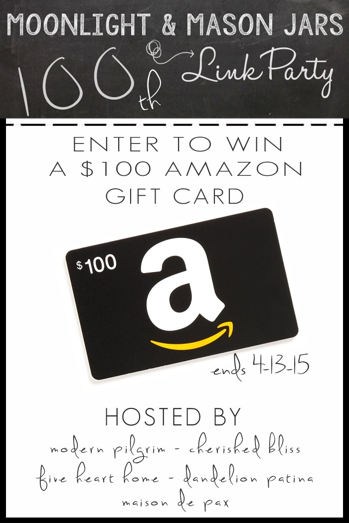 Enter to win a $100 gift card to Amazon at maisondepax.com  Ends 4-13-15