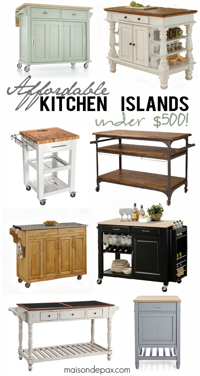 Where to buy affordable kitchen islands maison de pax - Mobile kitchen island plans ...