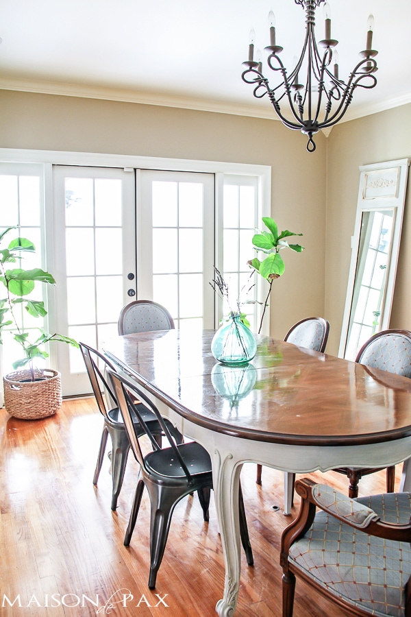 Gorgeous, simple French dining room | maisondepax.com #diy #decorating #design