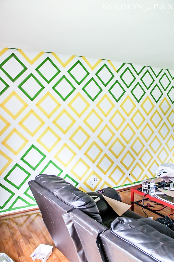 how to paint an accent wall with frog tape: easy to follow tutorial | maisondepax.com
