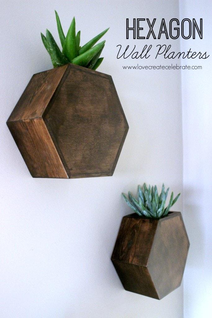 Hexagon Wall Planter | Love, Create, Celebrate