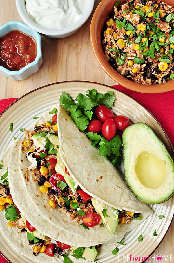 crock pot recipe: amazing (and easy!) chicken and black bean tacos!