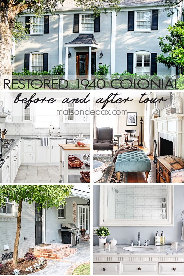 What a lovely restoration! A 1940 colonial is made beautifully modern and functional while maintaining its original charm: get the full before and after at maisondepax.com
