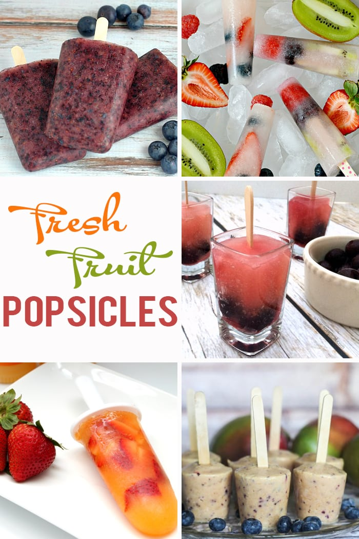 Delicious fresh fruit popsicles ideas to keep you cool all summer long!