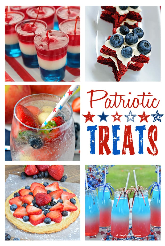 delicious, festive, patriotic treats - perfect desserts and drinks for July 4! maisondepax.com