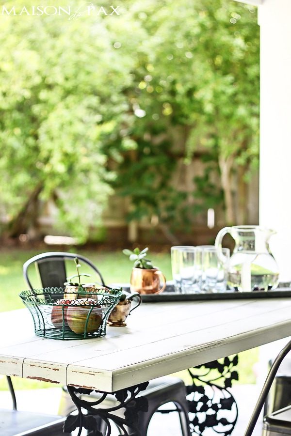 Gorgeous summer home tour full of seasonal decorating ideas... and the table on the back porch - stunning!  maisondepax.com