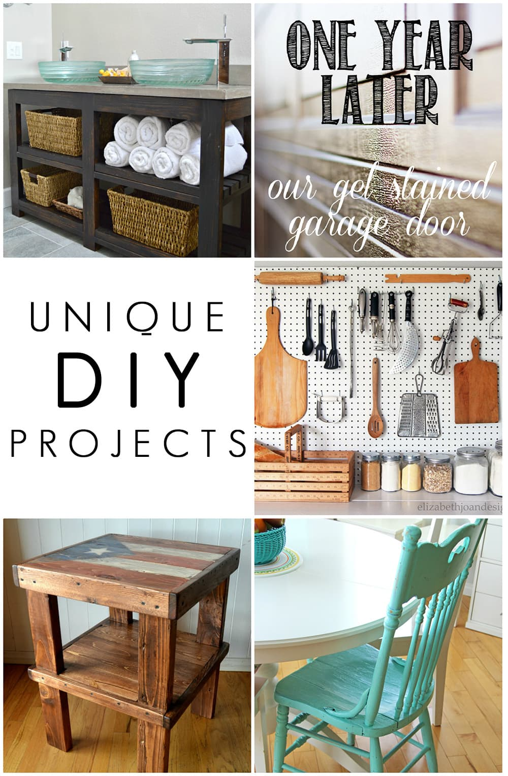 Amazing DIY creativity - I especially love that pegboard in the kitchen! Unique DIY Projects - maisondepax.com