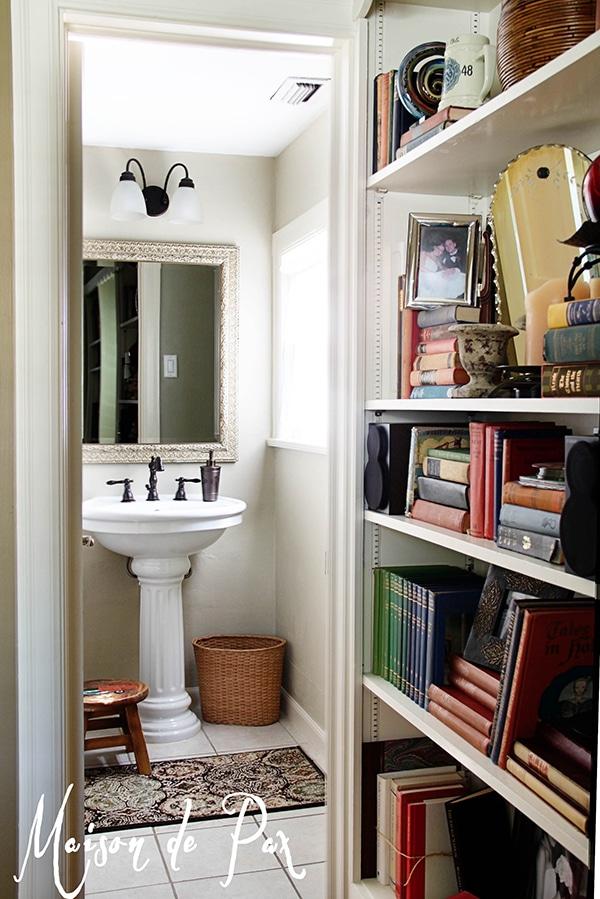 beautiful renovation of a tiny powder room / half bath | maisondepax.com