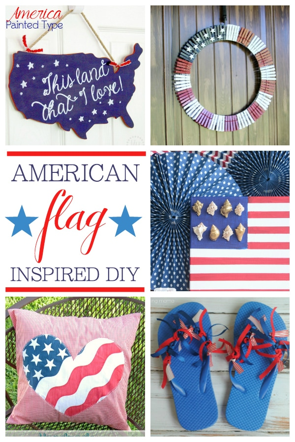 American Flag inspired DIY projects - perfect for Memorial Day, July 4... and all summer long! maisondepax.com